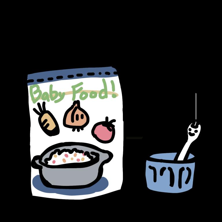 パウチのベビーフード